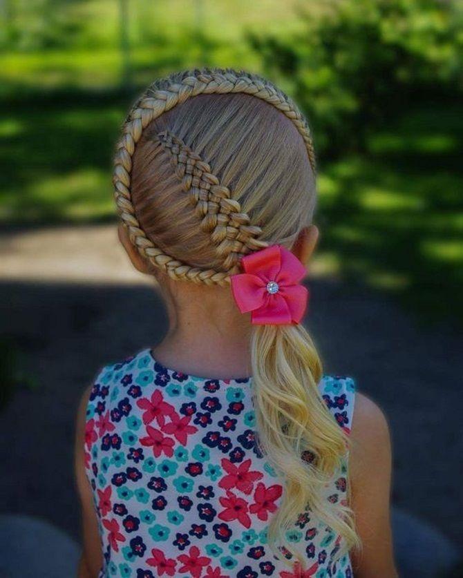 Прості і красиві зачіски дівчинці на 1 вересня 27