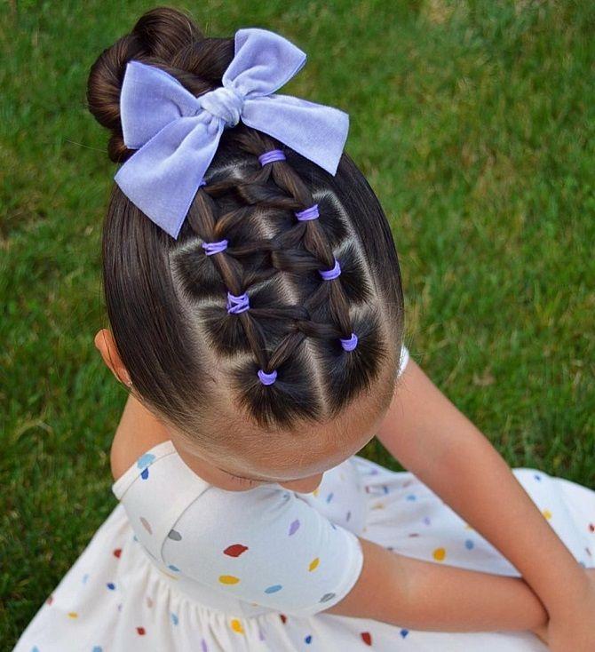 Найкрасивіші зачіски з бантами на 1 вересня 4