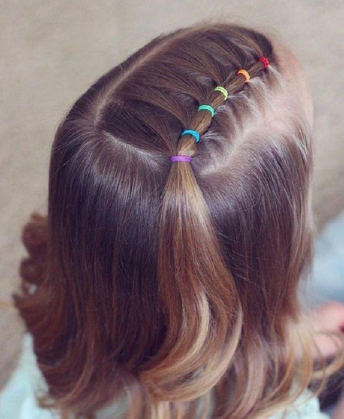 Прості і красиві зачіски дівчинці на 1 вересня 5
