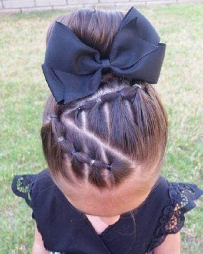 Прості і красиві зачіски дівчинці на 1 вересня 35
