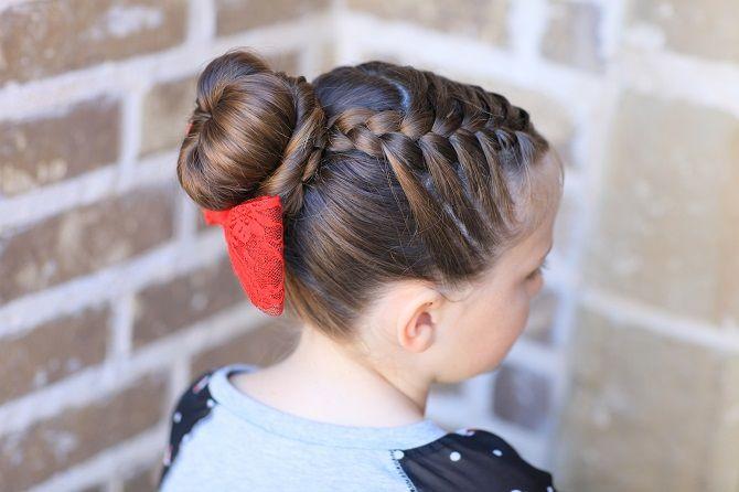 Прості і красиві зачіски дівчинці на 1 вересня 36
