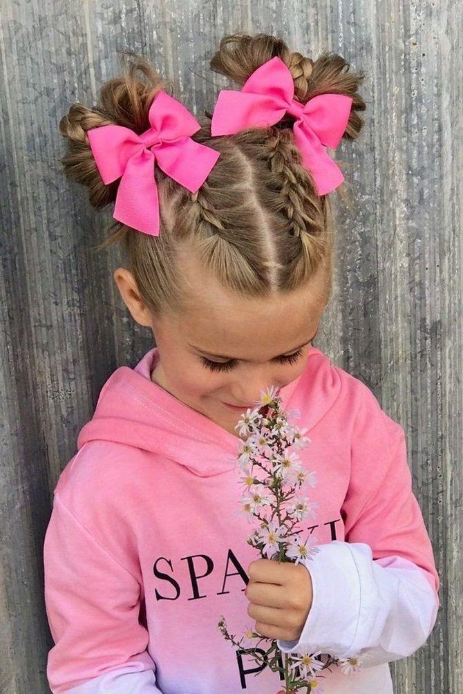 Прості і красиві зачіски дівчинці на 1 вересня 37
