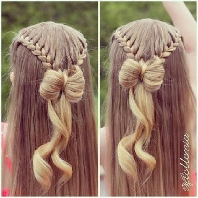 Модні зачіски в школу для дівчаток підлітків: легкі і прості варіанти 17
