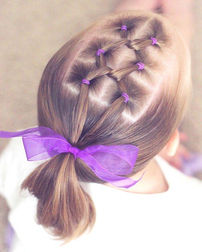 Простые и красивые прически для девочек на 1 сентября 6