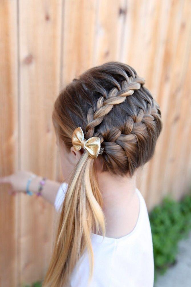 Прості і красиві зачіски дівчинці на 1 вересня 38