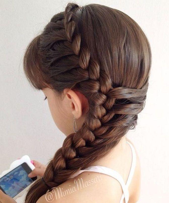 Прості і красиві зачіски дівчинці на 1 вересня 39