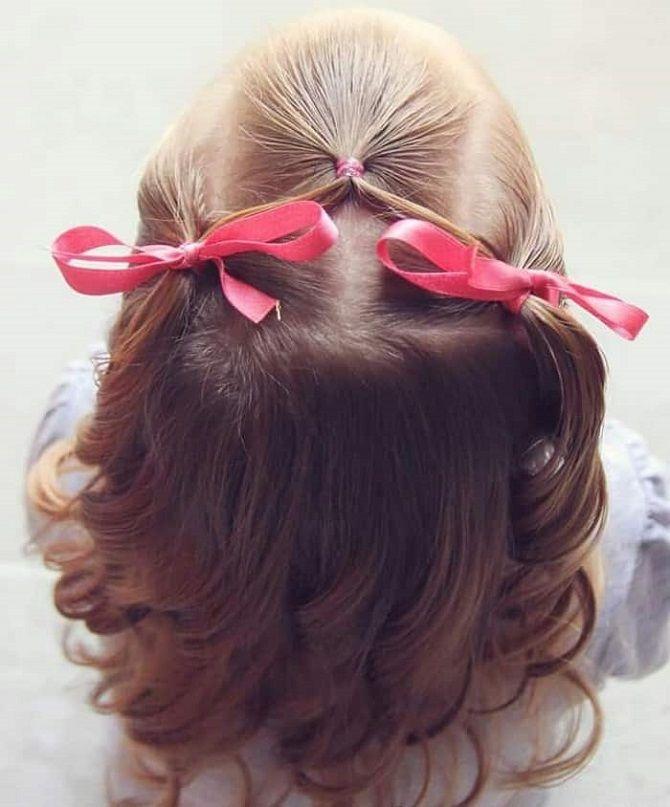 Простые и красивые прически для девочек на 1 сентября 7
