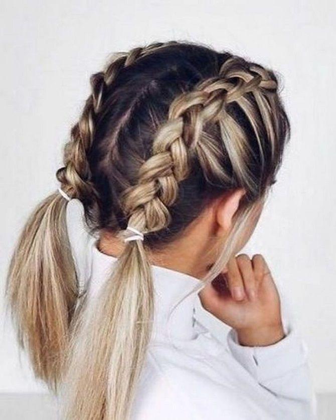Прості і красиві зачіски дівчинці на 1 вересня 44