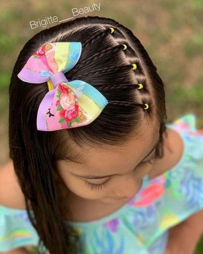 Прості і красиві зачіски дівчинці на 1 вересня 8