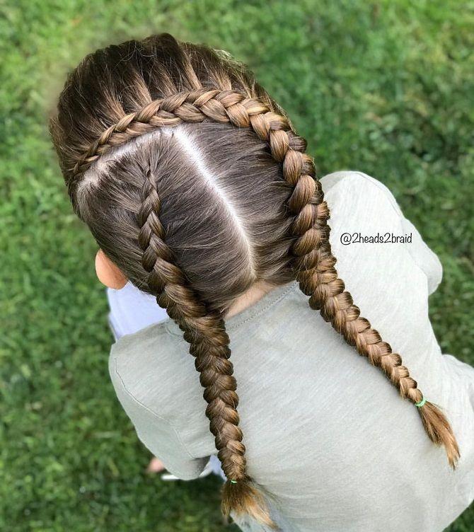 Прості і красиві зачіски дівчинці на 1 вересня 41