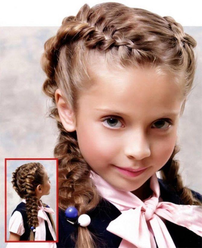 Прості і красиві зачіски дівчинці на 1 вересня 45