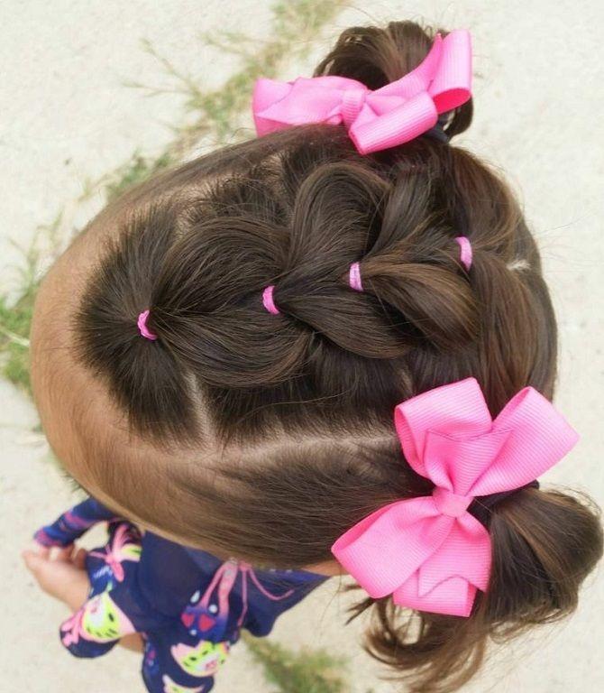 Найкрасивіші зачіски з бантами на 1 вересня 10