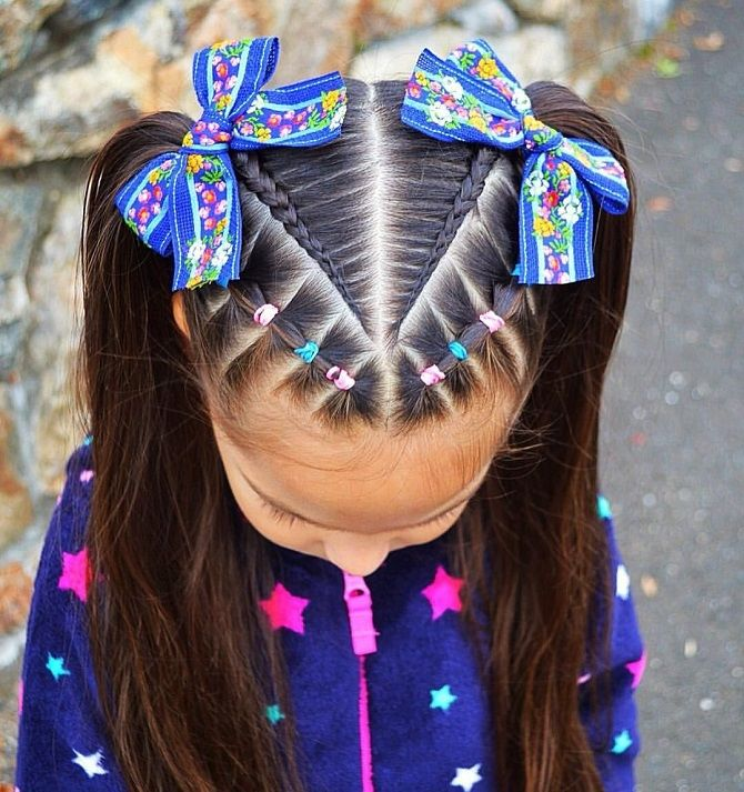 Прості і красиві зачіски дівчинці на 1 вересня 46