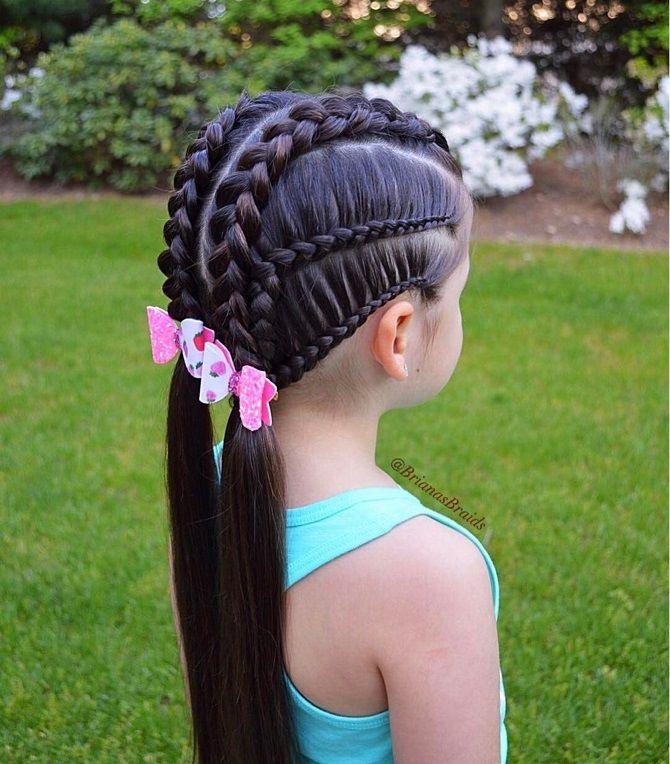 Прості і красиві зачіски дівчинці на 1 вересня 49