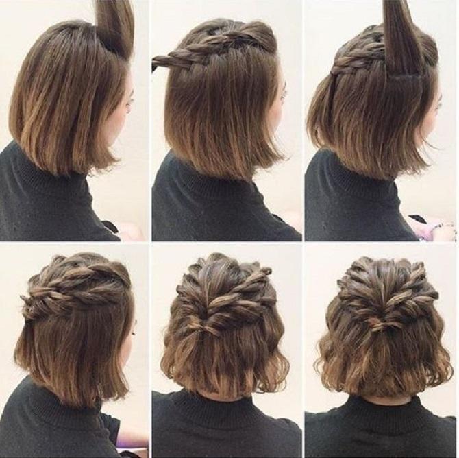 Weben für Mädchen für kurze Haare: