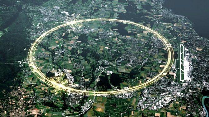 адронный коллайдер в Швейцарии