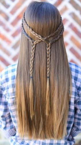 Simple and fashionable school hairstyles for teenage girls 7