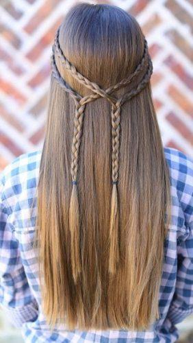 Модні зачіски в школу для дівчаток підлітків: легкі і прості варіанти 7