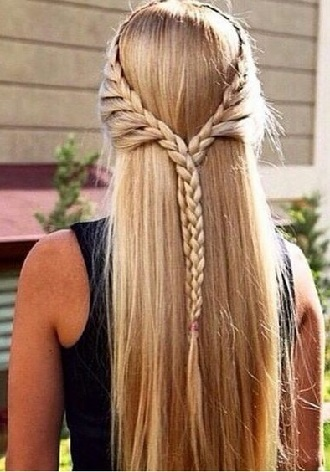 Simple and fashionable school hairstyles for teenage girls 11
