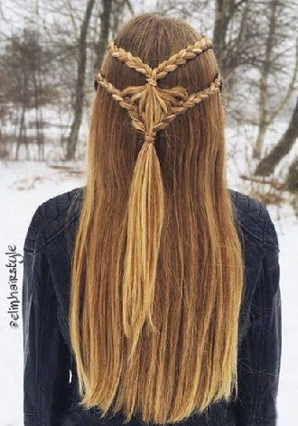 Simple and fashionable school hairstyles for teenage girls 12