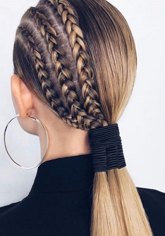Simple and fashionable school hairstyles for teenage girls 9