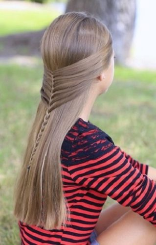 Simple and fashionable school hairstyles for teenage girls 14