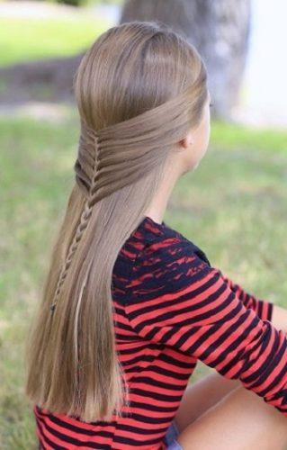 Модні зачіски в школу для дівчаток підлітків: легкі і прості варіанти 14