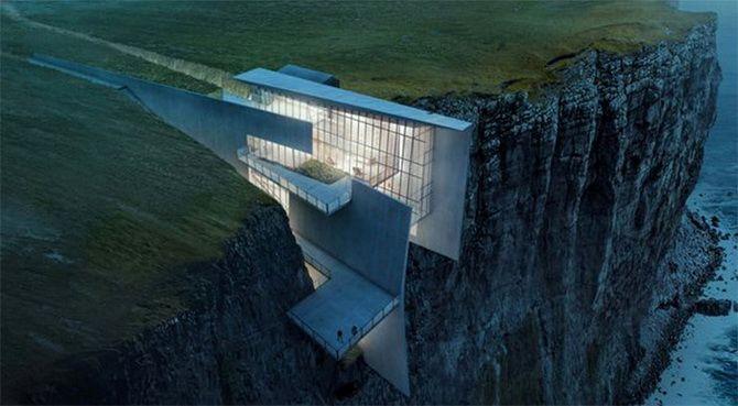 дом на скале Сербия