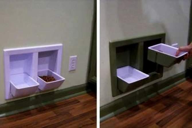 Встроенная кормушка для домашних питомцев