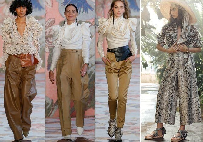 Палаццо, бананы и галифе: самые стильные брюки осень-зима 2020-2021 9