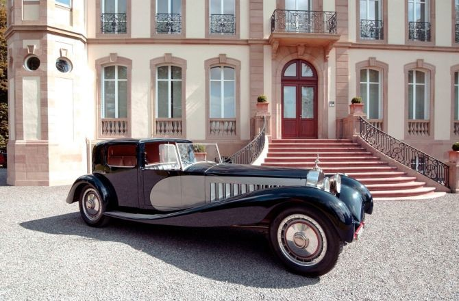 ретромобиль  Bugatti Type 41 Royale Kellner Coupe 1931 года выпуска