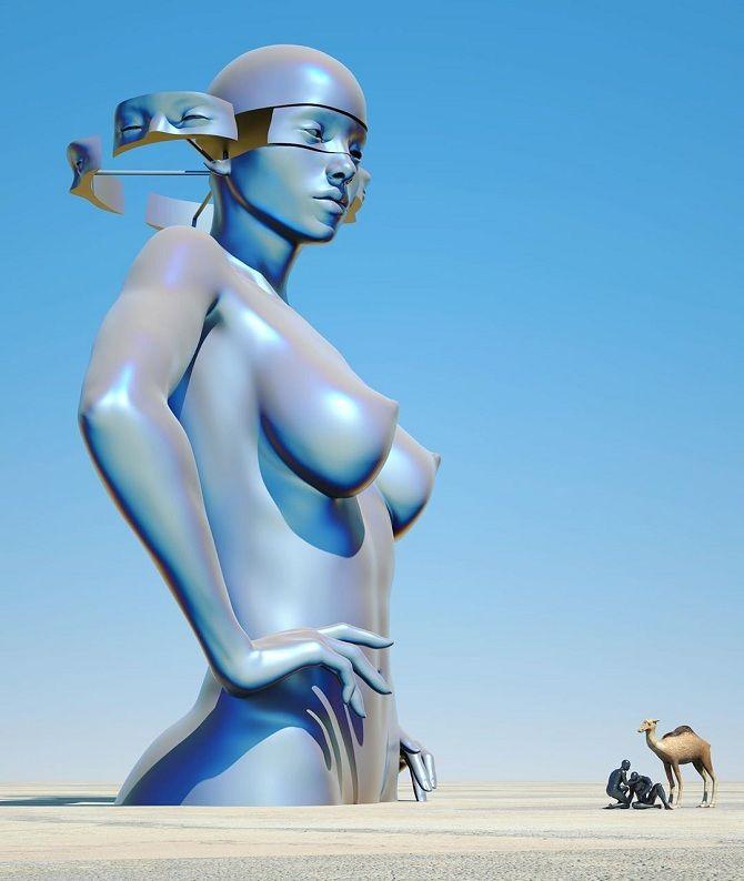 скульптуры Чада Найта