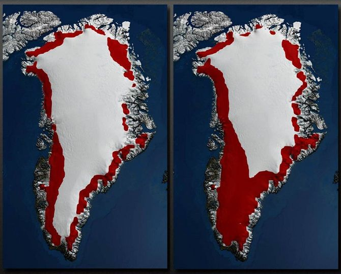 массовое таяние ледников
