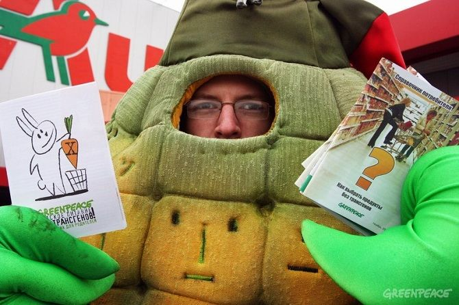грінпіс  кампанія проти ГМО.