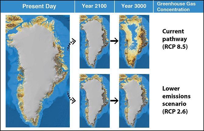 гренландия массовое таяние ледников
