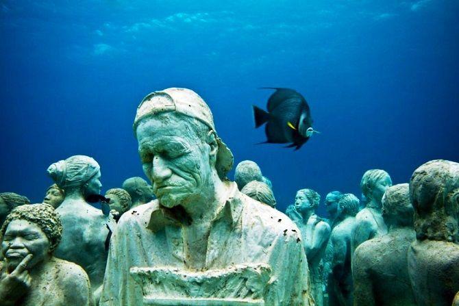 Музей підводних скульптур, Канкун, Мексика
