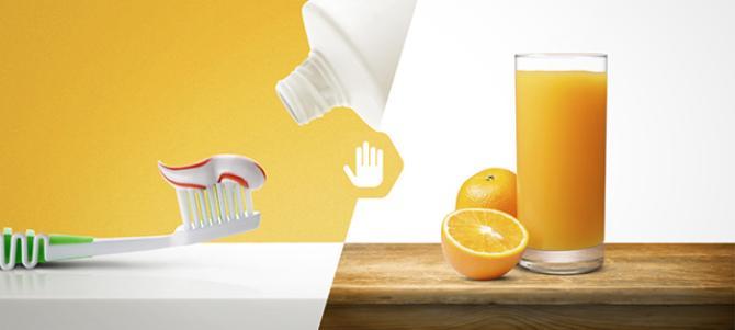 Почему апельсиновый сок после чистки зубов отвратителен на вкус?