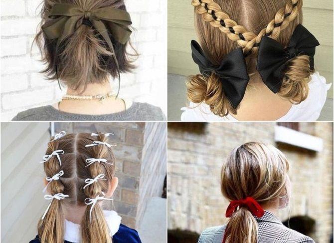 ленты в волосах