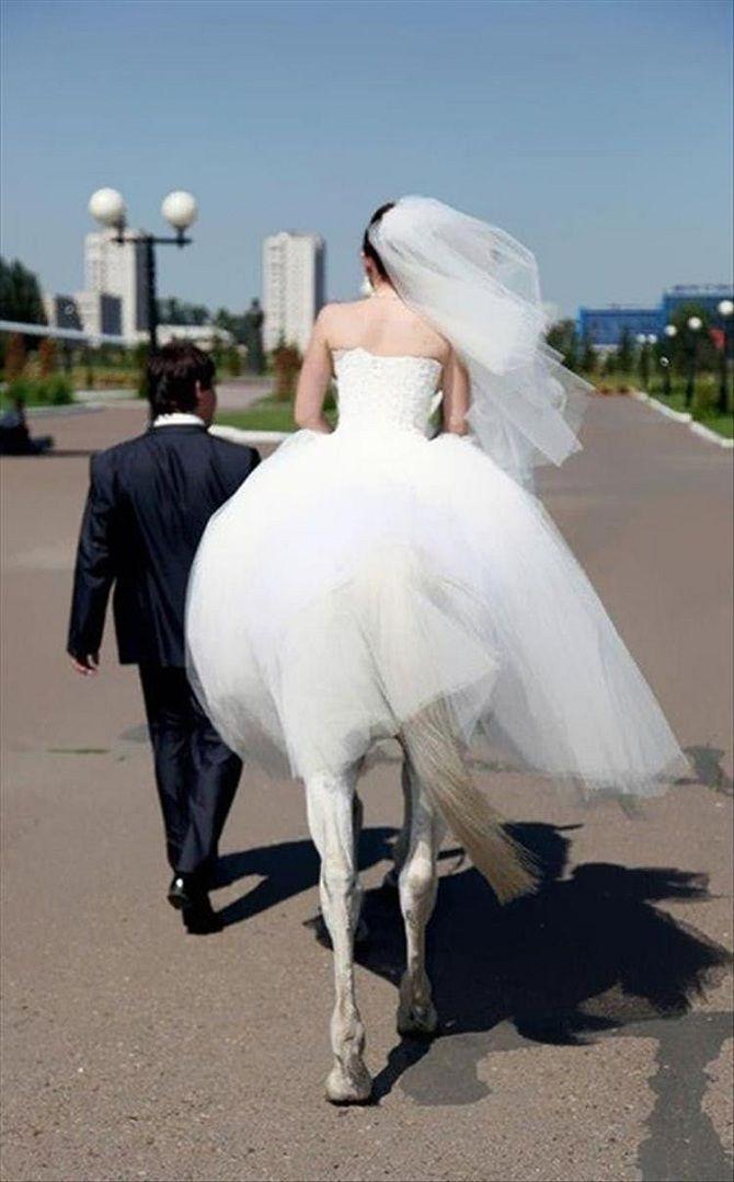 невеста на коне