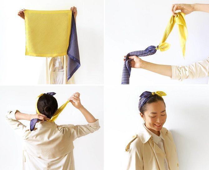 как завязывать платки