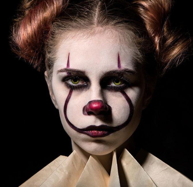 Макияж на Хэллоуин клоун из фильма оно