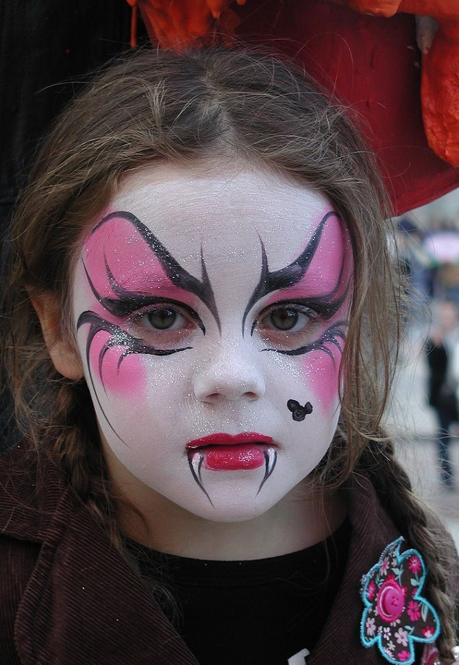 Макияж на Хэллоуин детям