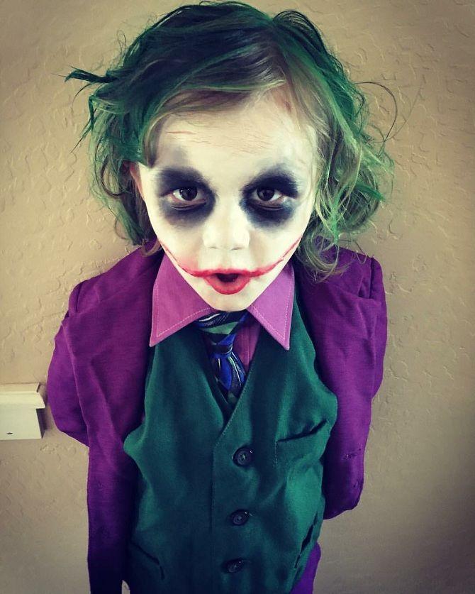 Макияж на Хэллоуин детский джокер