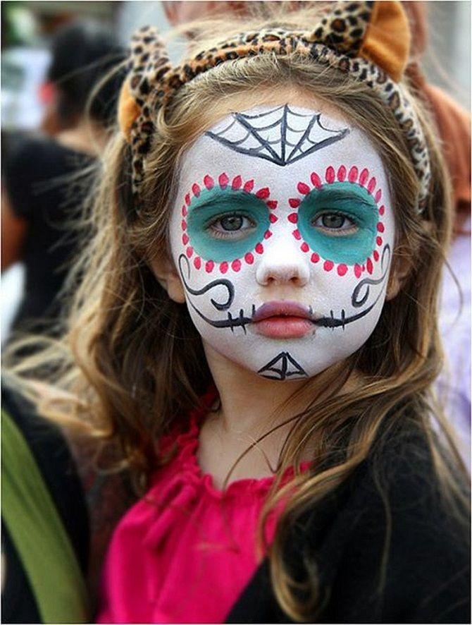 Макияж на Хэллоуин для девочек