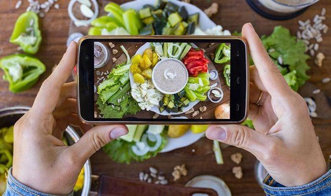 фото смартфон овощи