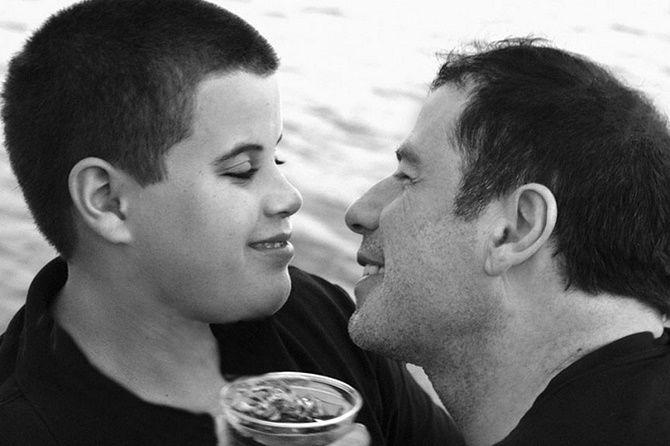 Джон Траволта с сыном Джеттом