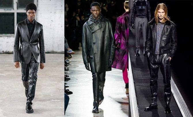 мужские кожаные куртки осень-зима 2019-2020