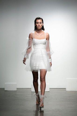 мини платье невесты