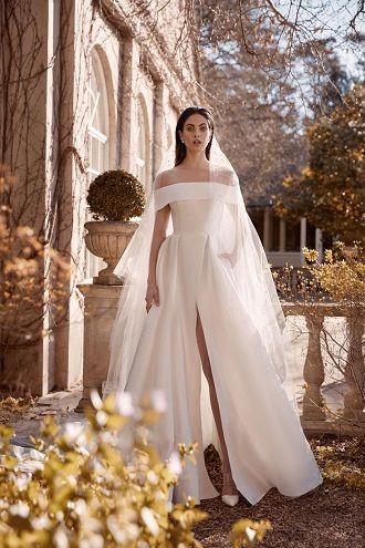 минимализм платье для невест