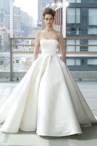 платье невесты в стиле минимализм